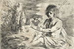 <B>Guercino</B> (1591-1666)<br>San Giovannino<br>Acquaforte, mm 126x184